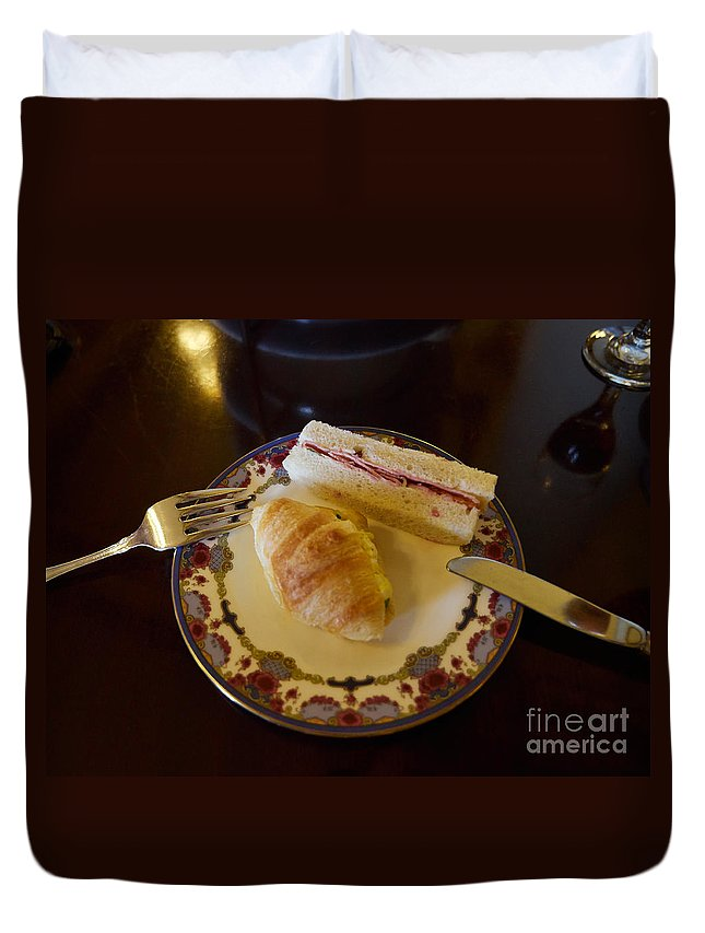 Sandwiches Duvet Cover featuring the photograph Finger Sandwiches For Traditional Afternoon Tea by Louise Heusinkveld