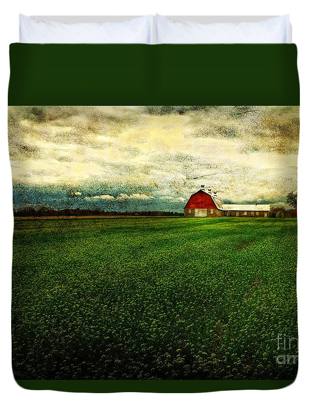 Barn Duvet Cover featuring the photograph Finished by Lois Bryan