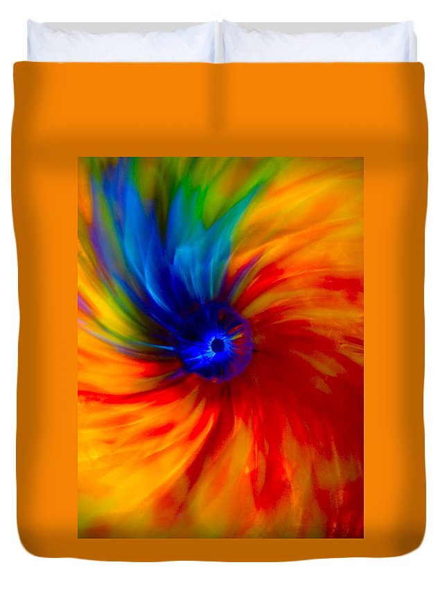 Dragons Duvet Cover featuring the photograph Fire Dragons Eye by Tim G Ross