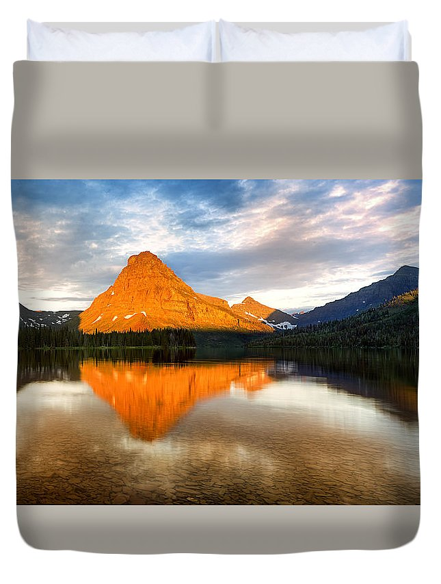 Montana Duvet Cover featuring the photograph Fire On The Mountain by John Vose
