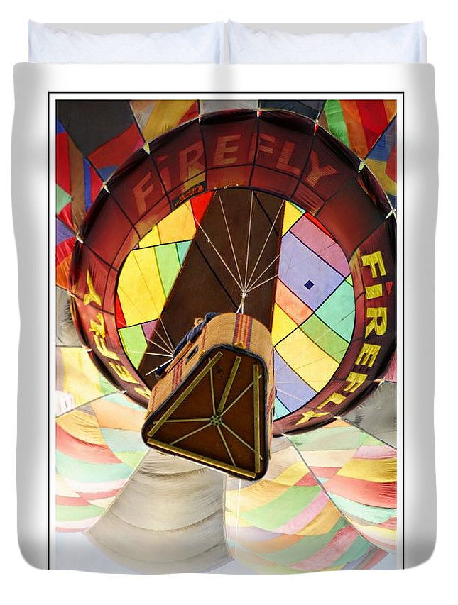 Firefly Hot Air Balloon Duvet Cover featuring the photograph Firefly by Alice Gipson