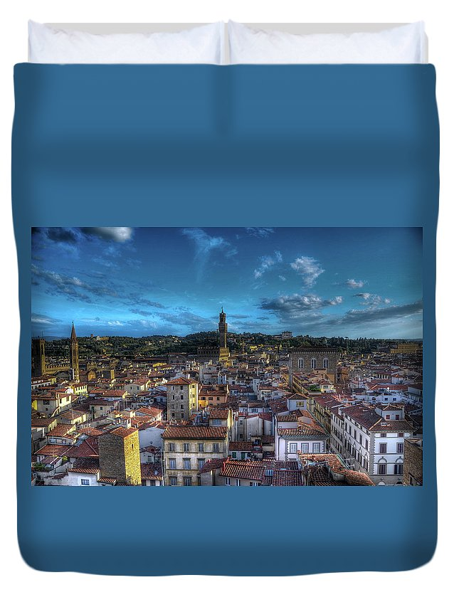 Tranquility Duvet Cover featuring the photograph Firenze, Itália by Ricardo Russi Blois