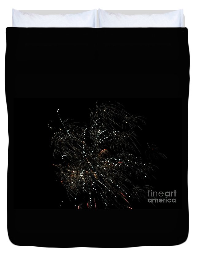 Ice Duvet Cover featuring the photograph Fireworks 16 by Cassie Marie Photography