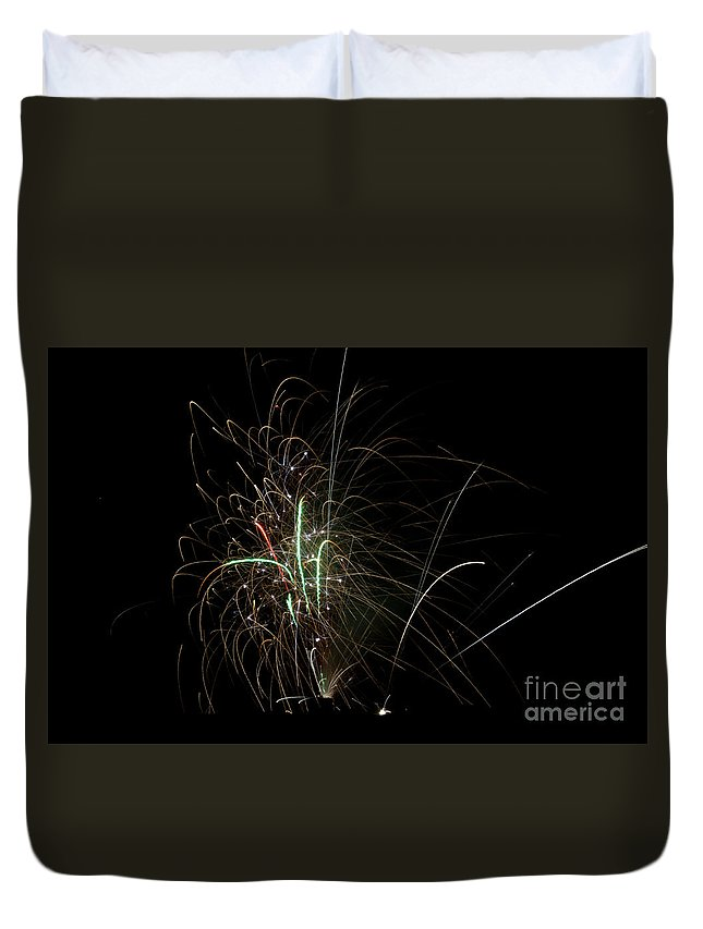 Ice Duvet Cover featuring the photograph Fireworks 19 by Cassie Marie Photography