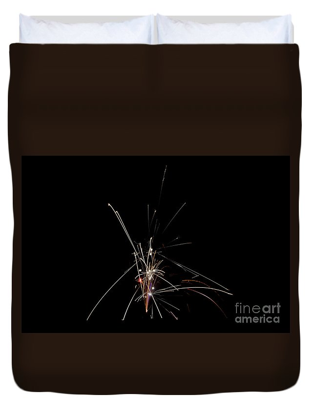 Ice Duvet Cover featuring the photograph Fireworks 25 by Cassie Marie Photography