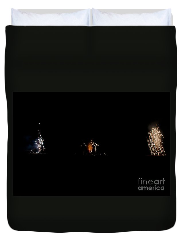 Ice Duvet Cover featuring the photograph Fireworks 26 by Cassie Marie Photography