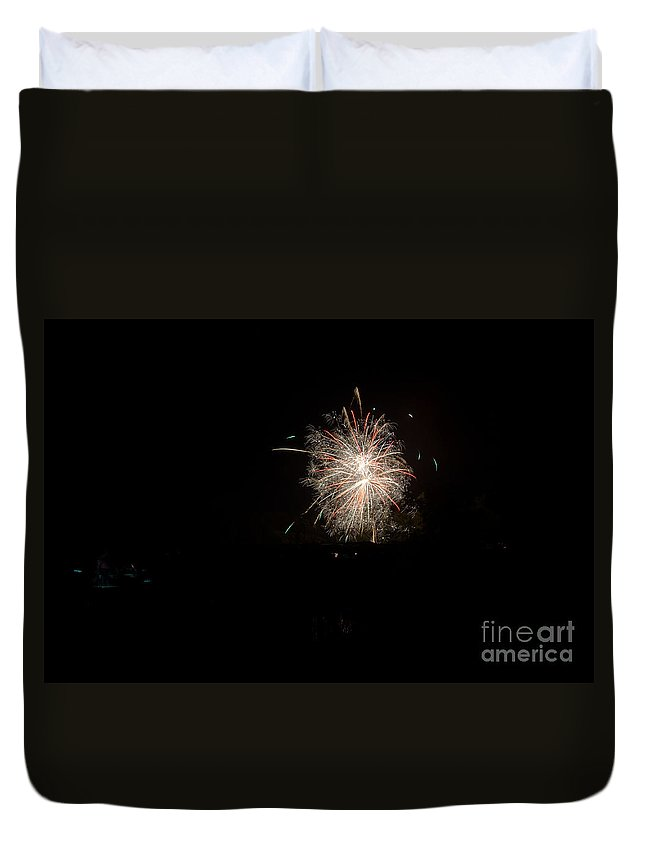 Ice Duvet Cover featuring the photograph Fireworks 51 by Cassie Marie Photography