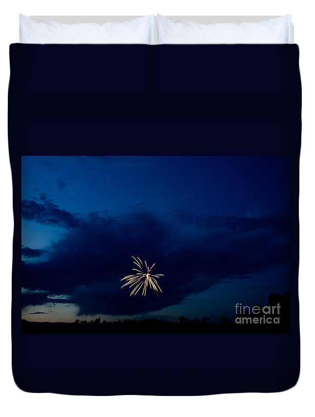 Ice Duvet Cover featuring the photograph Fireworks 6 by Cassie Marie Photography