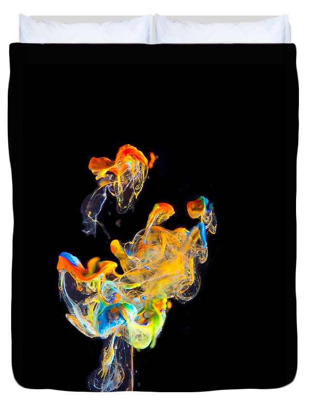Abstract Duvet Cover featuring the photograph First Dance by Modern Art Prints