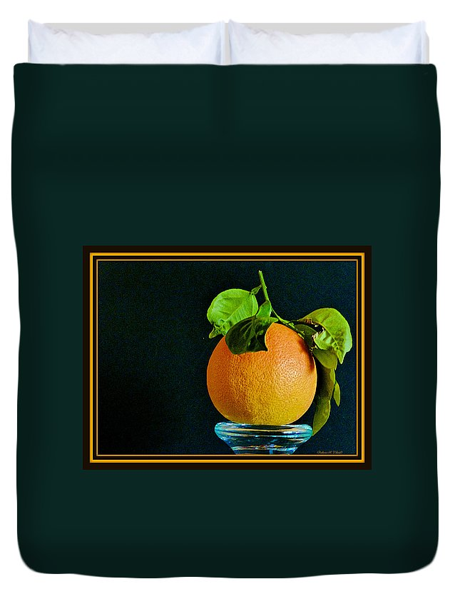 Fruit Duvet Cover featuring the photograph First Harvest 2015 by Barbara Zahno