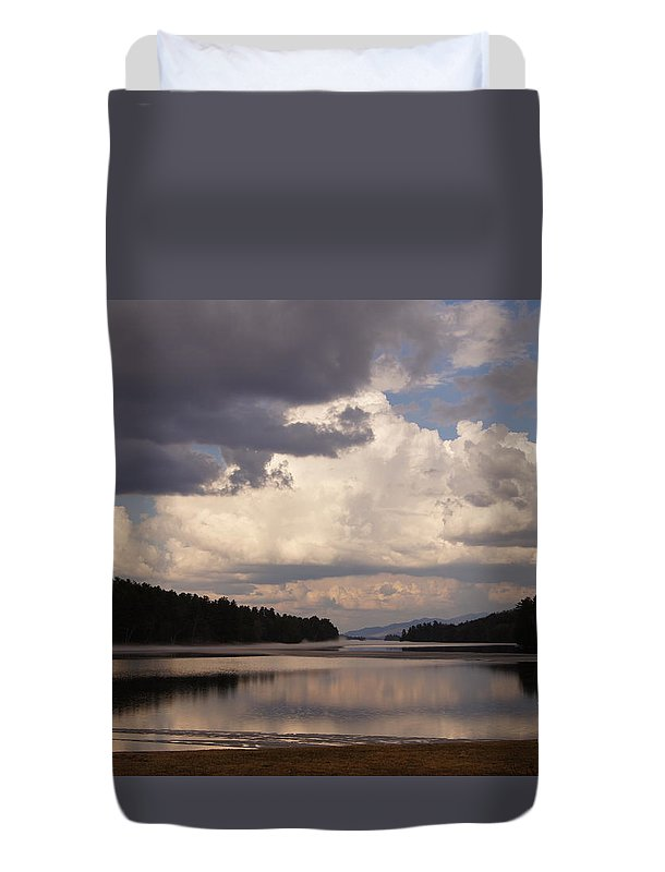 New Ice Duvet Cover featuring the photograph First Ice by Jeffery L Bowers