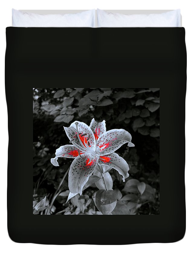Floral Duvet Cover featuring the photograph First Sunbeams Begin To Paint by Tim G Ross