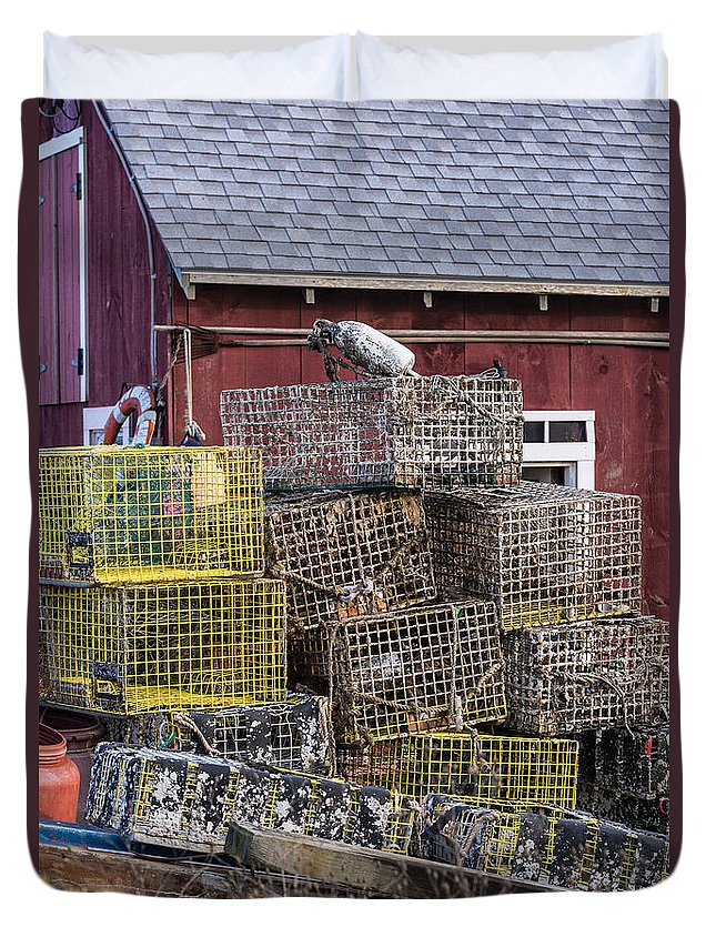 Chilmark Duvet Cover featuring the photograph Fisherman's Shack by John Greim