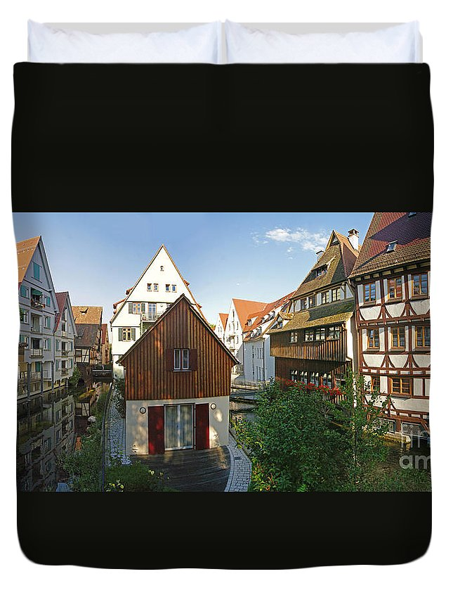 Germany Duvet Cover featuring the photograph fishermens quarter in Ulm by Rudi Prott