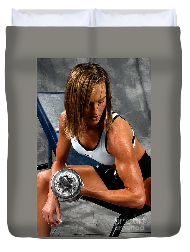 Model Duvet Cover featuring the photograph Fitness 28-2 by Gary Gingrich Galleries