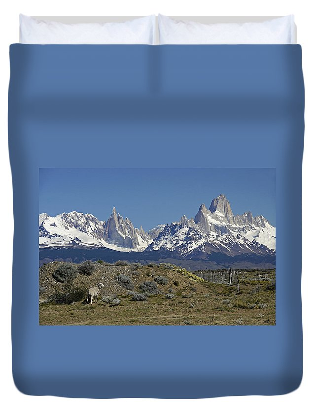 Argentina Duvet Cover featuring the photograph Fitz Roy Range In Springtime 2 by Michele Burgess
