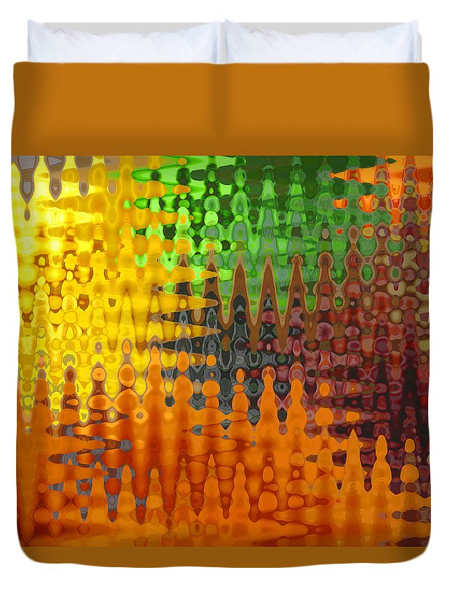 Fruits Duvet Cover featuring the photograph Five A Day by Barbara McDevitt