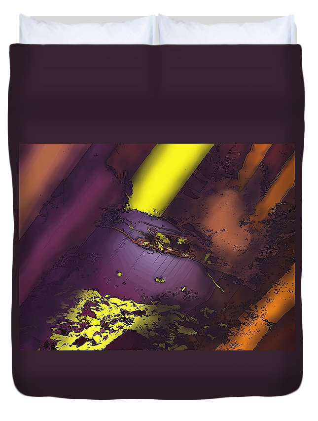 Abstract Duvet Cover featuring the digital art Five Sixty Nine by Ian MacDonald