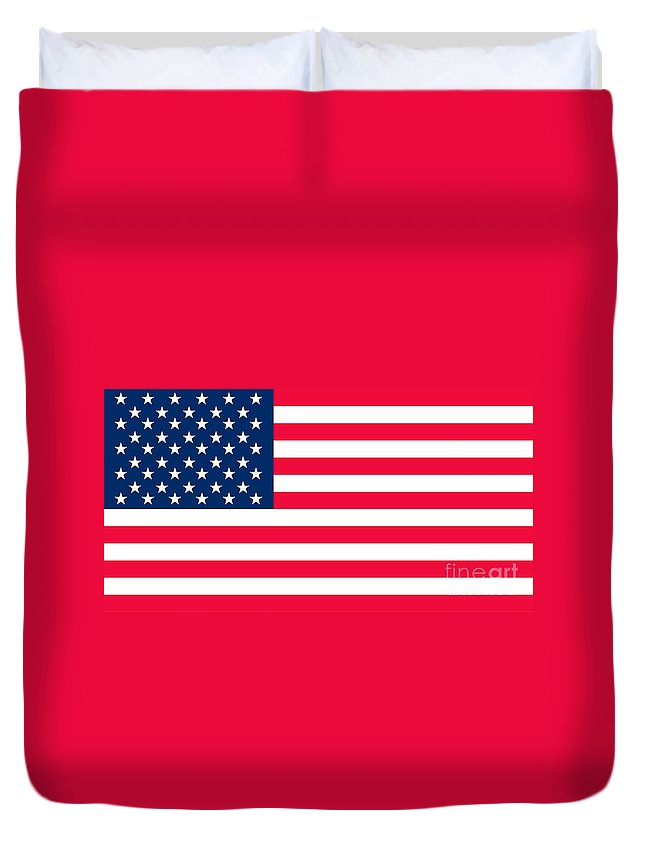 America Duvet Cover featuring the painting Flag Of The United States Of America by Anonymous