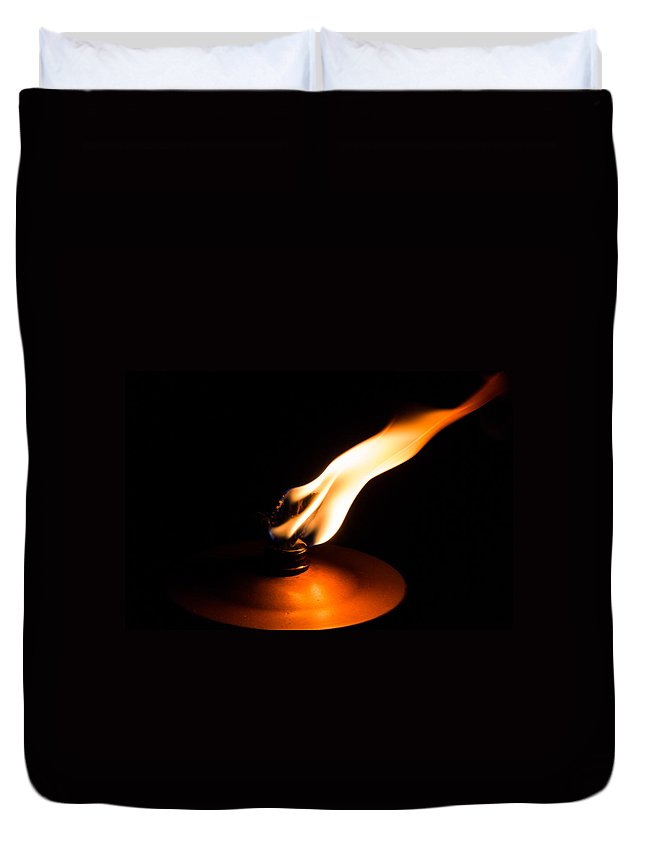Flame Duvet Cover featuring the photograph Flame by Ernesto Santos