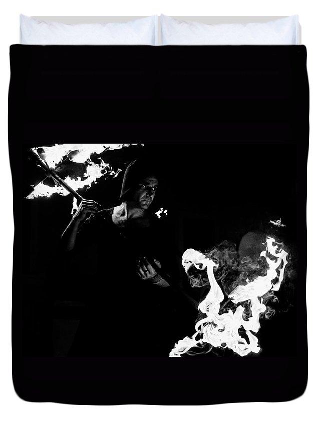 Abruzzo Duvet Cover featuring the photograph Flames Of Revenge by Andrea Mazzocchetti