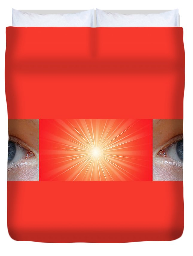 Meditation Duvet Cover featuring the digital art Flash - 1 by Philip Ralley