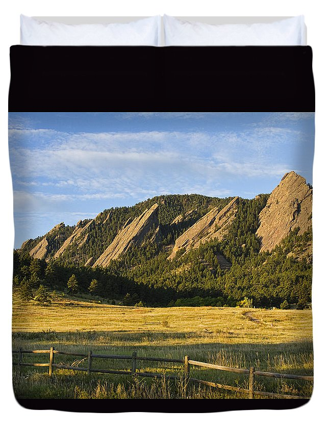 Epic Duvet Cover featuring the photograph Flatirons From Chautauqua Park by James BO Insogna