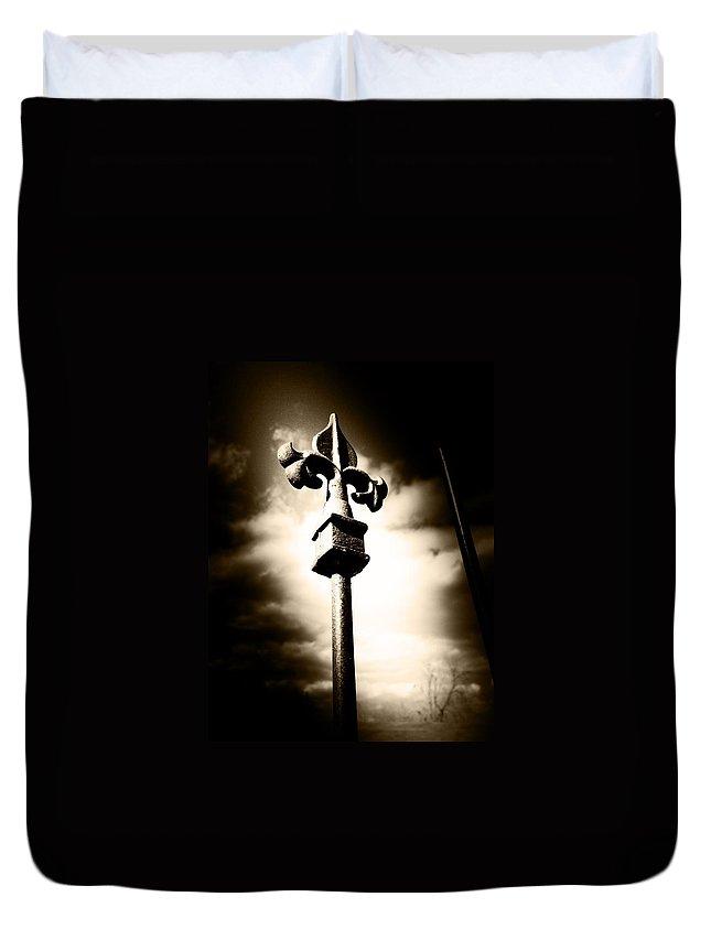 Fleur De Lis Duvet Cover featuring the photograph Fleur De Lis Fence by Southern Tradition