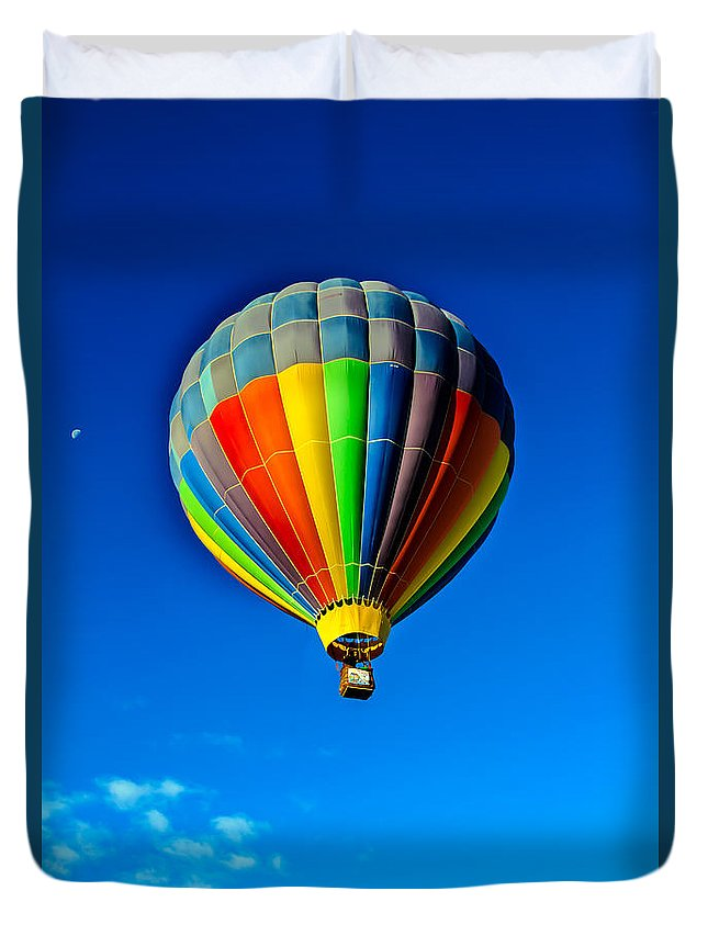 Arizona Duvet Cover featuring the photograph Floating Free In A Hot Air Balloon by Robert Bales