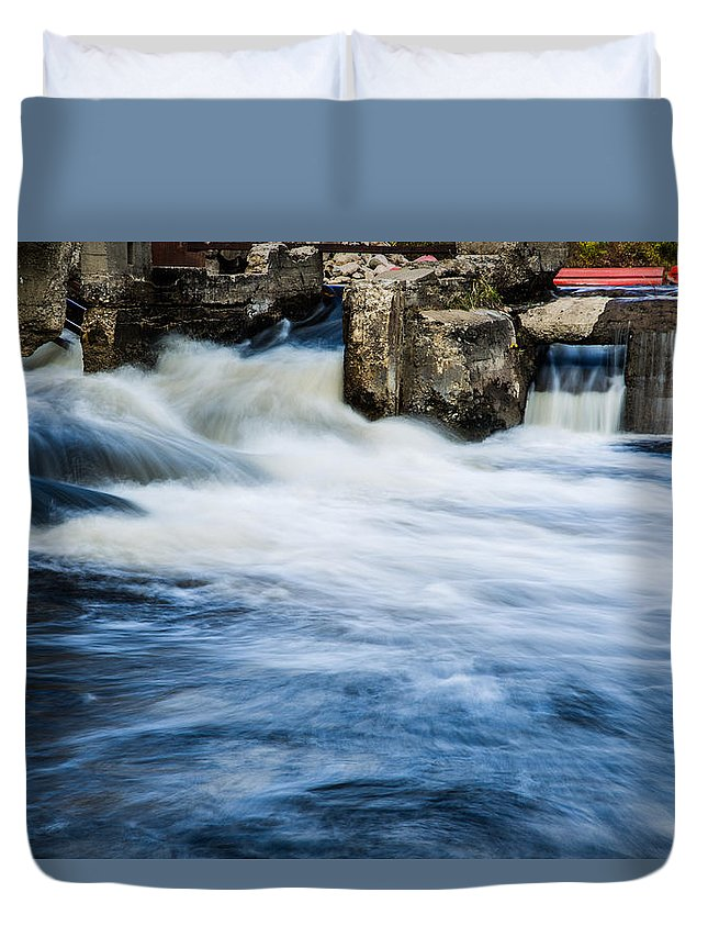 Water Duvet Cover featuring the photograph Flood Waters by Melvin Busch