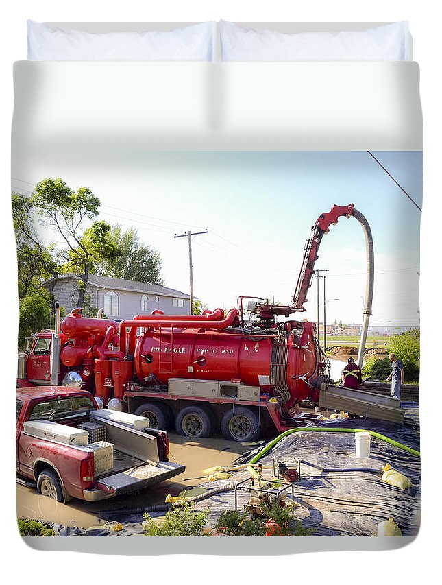 Flooding Duvet Cover featuring the photograph Flooding by Viktor Birkus