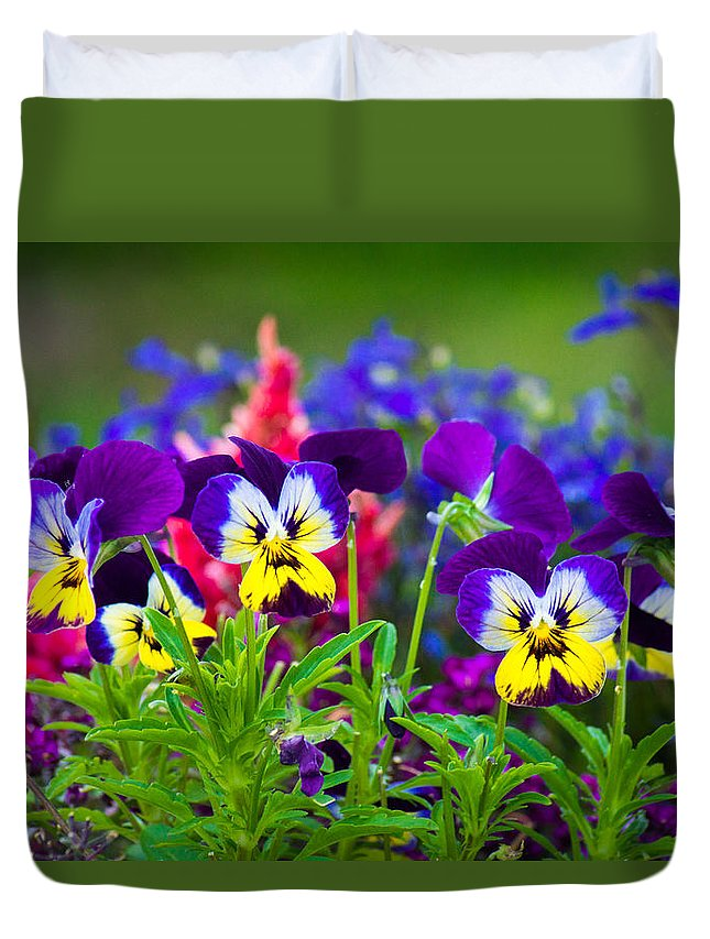 Blue Duvet Cover featuring the photograph Floral Salad by Bill Pevlor