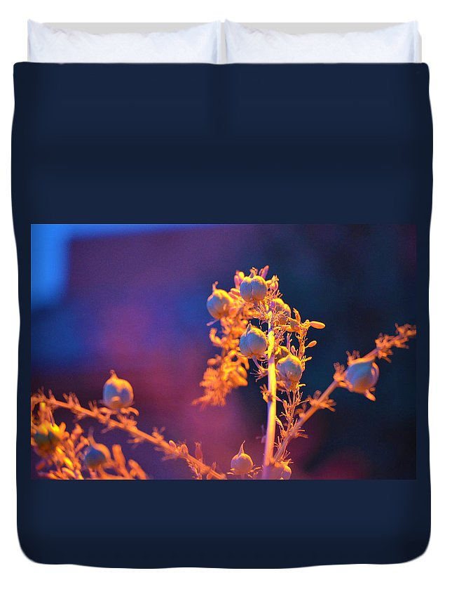 Twilight Flowers Duvet Cover featuring the photograph Floral Twilight by Deprise Brescia