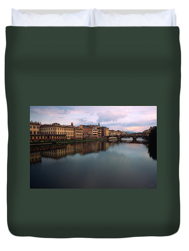Florence Duvet Cover featuring the photograph Florence Memories by Kathy Yates