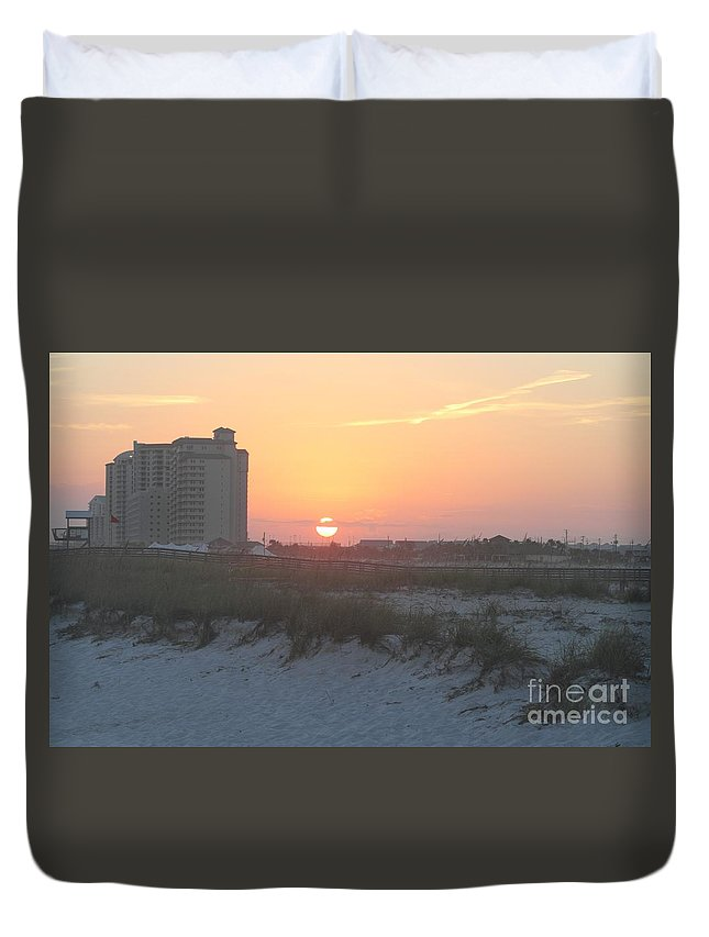 Beach Duvet Cover featuring the photograph Florida Beach Sunset by Michelle Powell
