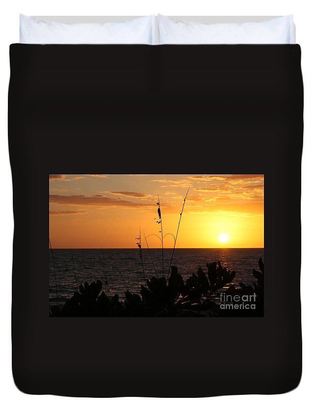 Sundown Duvet Cover featuring the photograph Florida Delight by Christiane Schulze Art And Photography