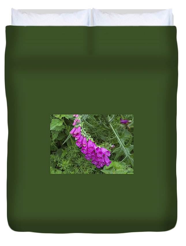 Flowers Duvet Cover featuring the photograph Flower 14 by Nancy L Marshall