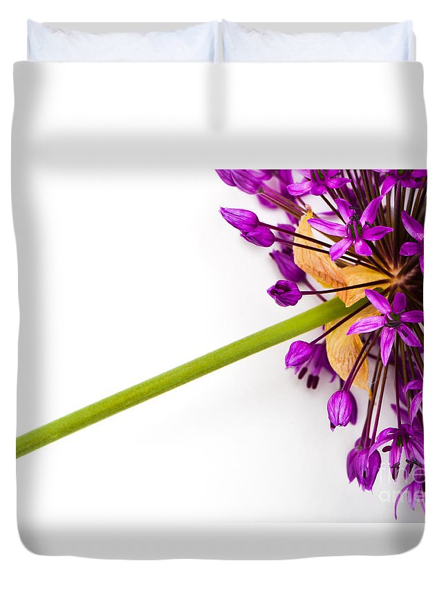 Flower Duvet Cover featuring the photograph Flower At Rest by Michael Arend