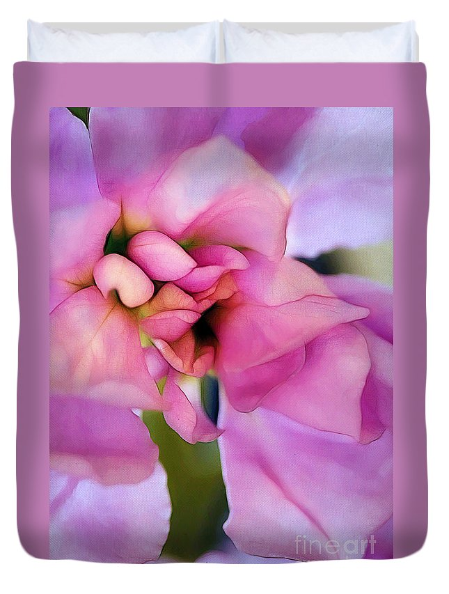 Blossom Duvet Cover featuring the photograph Flower At Twilight by Judi Bagwell