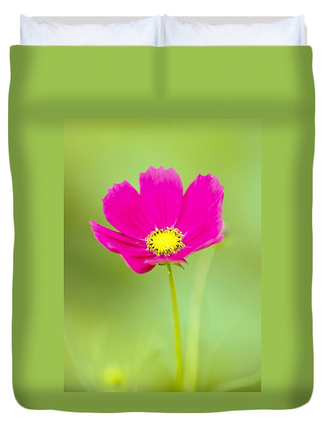 Flower Duvet Cover featuring the photograph Flower - Closeup by Susie Hoffpauir