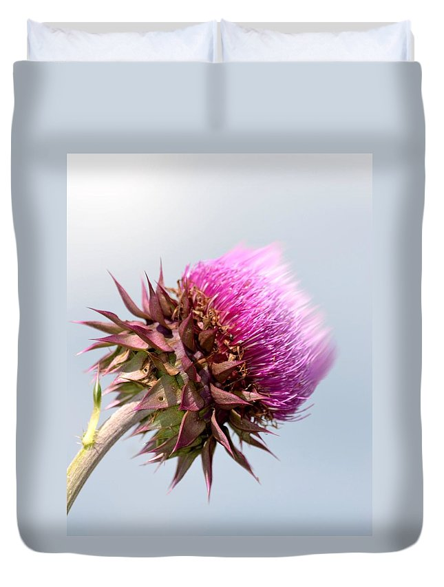 Flower Massage Duvet Cover featuring the photograph Flower Massage by Maria Urso