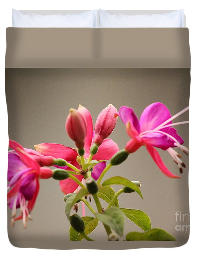 Flower Duvet Cover featuring the photograph Flower by Nila D