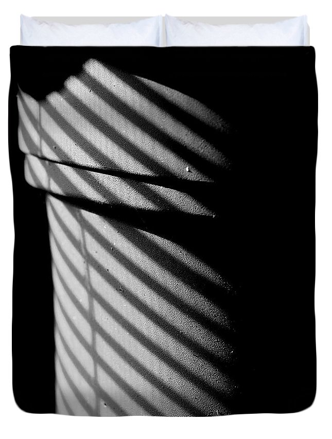 Shadows Duvet Cover featuring the photograph Flower Pot by Christopher McKenzie