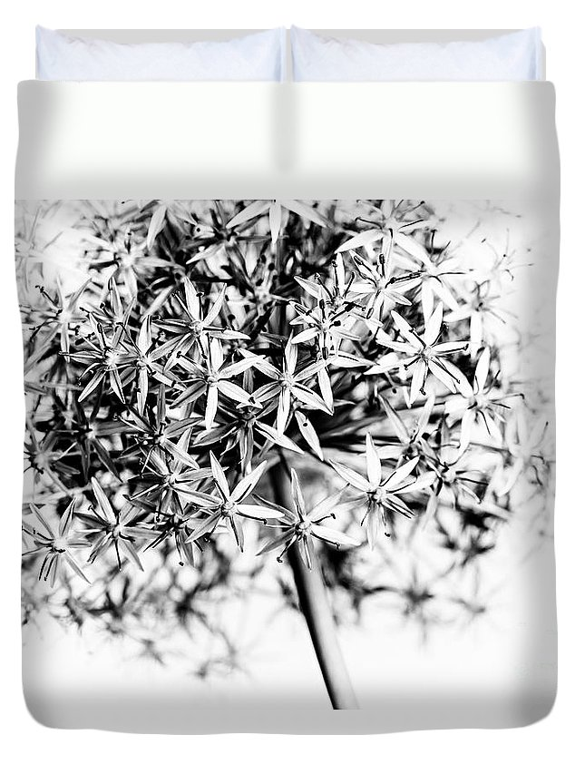Flower Duvet Cover featuring the photograph Flowering Onion by Elena Elisseeva
