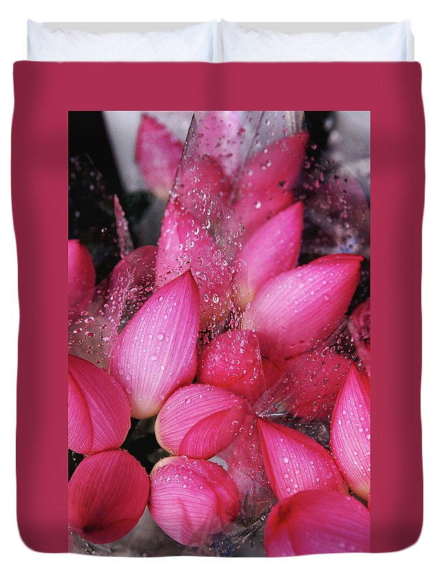 Retail Duvet Cover featuring the photograph Flowers For Sale At Yuen Po Street by Richard I'anson