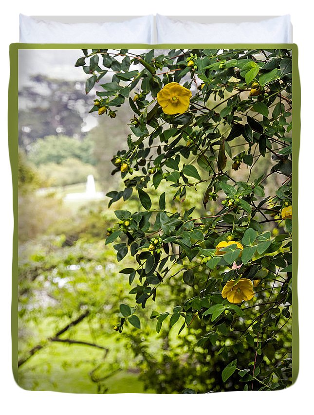 Bush Duvet Cover featuring the photograph Flowers In The Park by Kate Brown