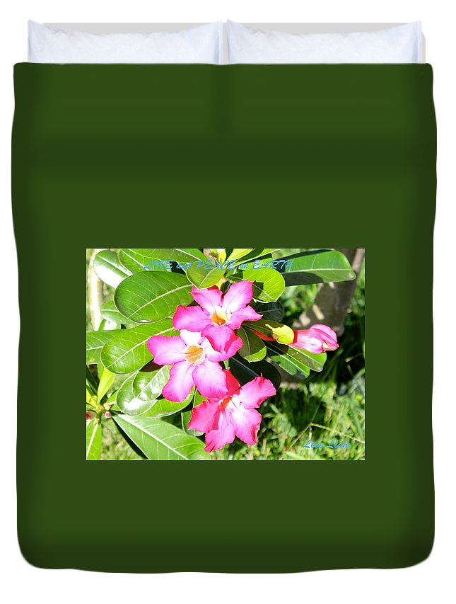 Nature Duvet Cover featuring the photograph Flowers by Lorna Maza