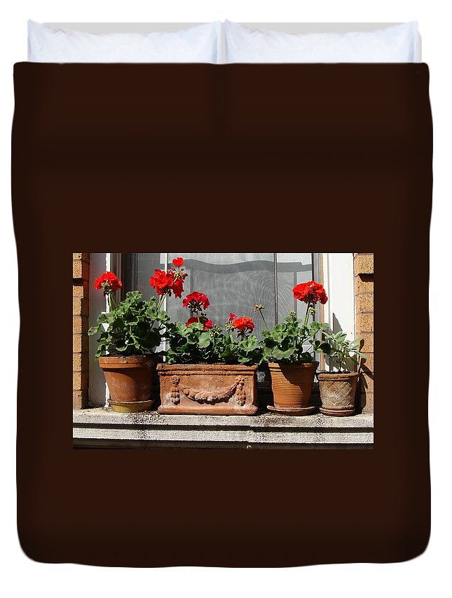 Flowers Duvet Cover featuring the photograph Flowers Of New York by Ira Shander