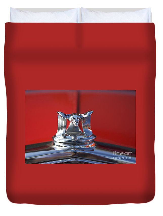 hood Ornament Duvet Cover featuring the photograph Flying Duck Hood Ornament by Crystal Nederman
