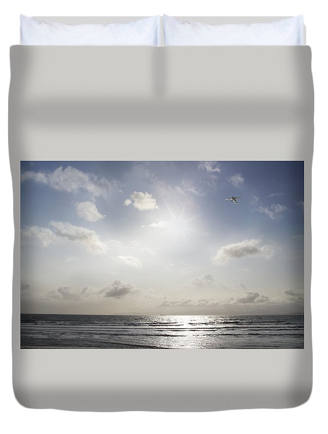 Alaska Duvet Cover featuring the photograph Flying High by Michele Cornelius